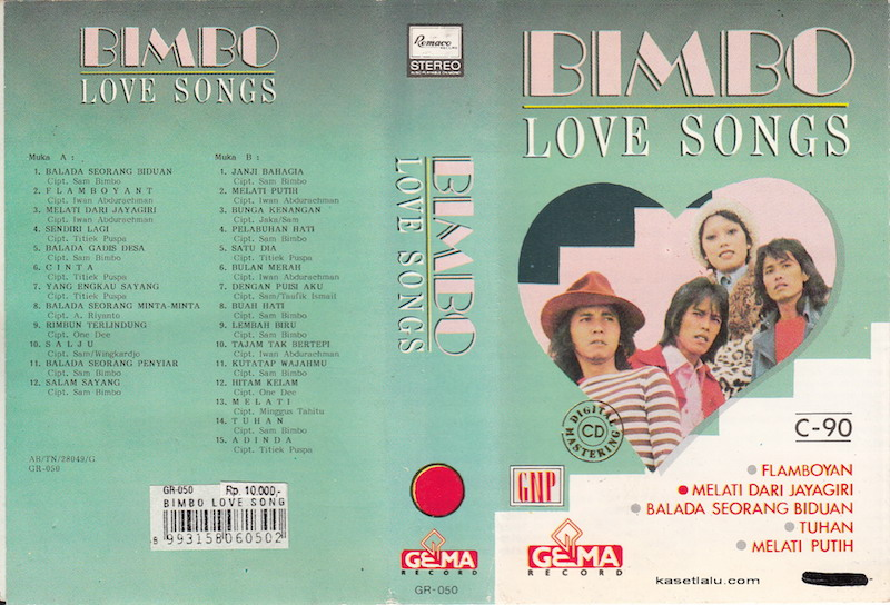 BIMBO – LOVE SONGS | Kaset Lalu