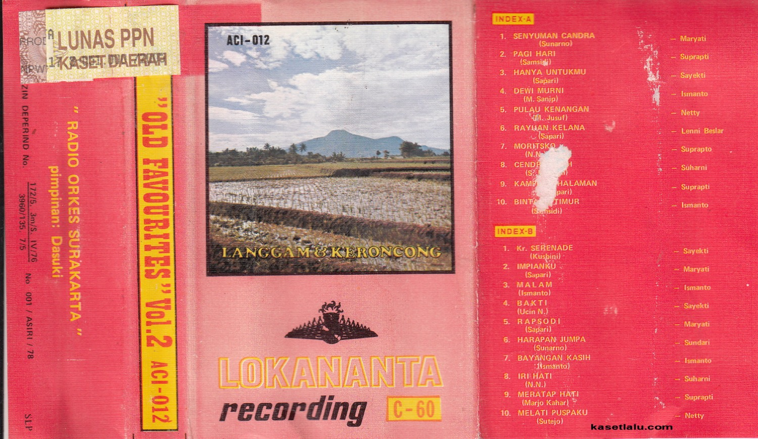 Lokananta Recording - Old Favourites Vol.2
