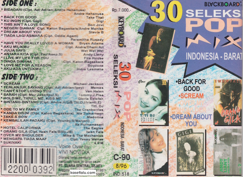 30 Seleksi Pop Mix Indonesia Barat