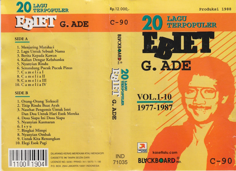 ebiet ade lagu terpopuler kaset