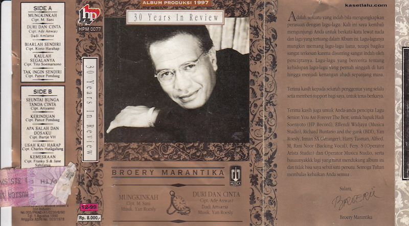 Broery Marantika - 30 Year In Review