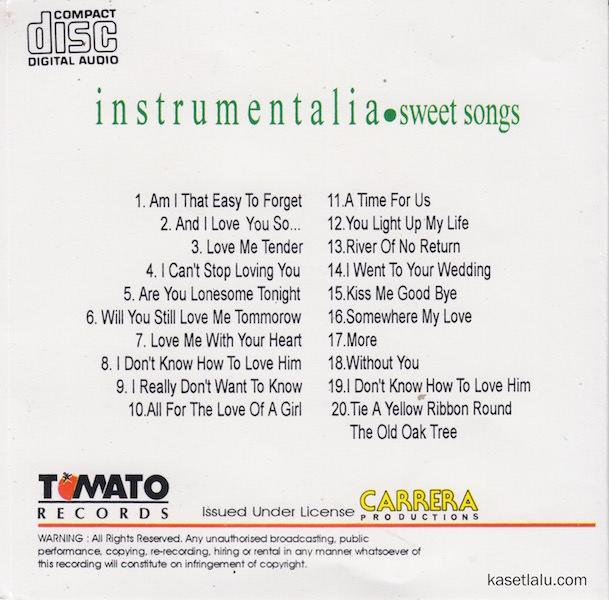 CD - INSTRUMENTALIA SWEET SONGS (SONG OF THE YEAR IN PLATINUM ROMANTIC PIANO VOLUME 4).