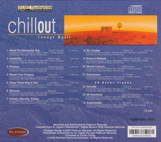 CD - CHILLOUT - LOUNGE MUSIC.