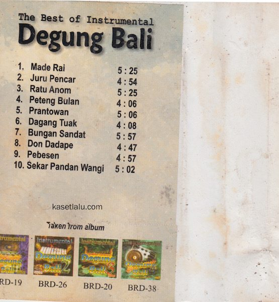 THE BEST OF INSTRUMENTAL DEGUNG BALI.