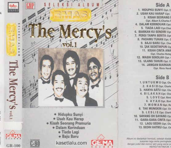 THE MERCY'S - SELEKSI ALBUM EMAS VOL. 1
