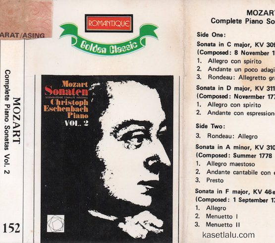 ROMANTIQUE GOLDEN CLASSIC 152 - MOZART - COMPLETE PIANO SONATAS VOL. 2