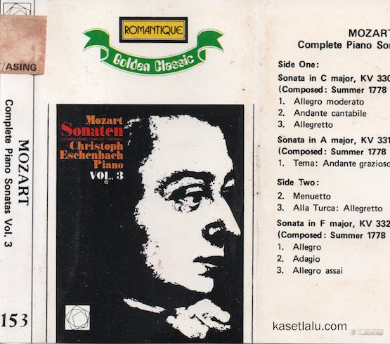 ROMANTIQUE GOLDEN CLASSIC 153 - MOZART - COMPLETE PIANO SONATAS VOL. 3