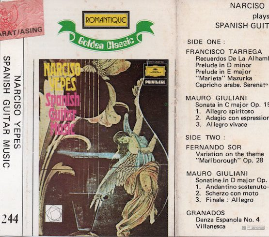 ROMANTIQUE GOLDEN CLASSIC 244 - NARCISO YEPES - SPANISH GUITAR MUSIC