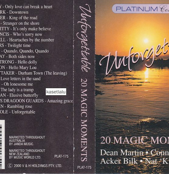 PLATINUM COLLECTION UNFORGETTABLE - 20 MAGIC MOMENTS