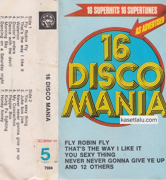 16 DISCO MANIA - 16 SUPERHITS 16 SUPERTUNES AS ADVERTISED