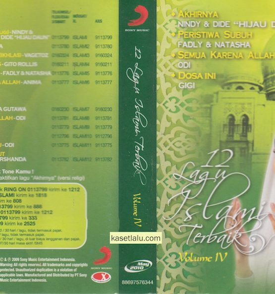 12 LAGU ISLAMI TERBAIK VOLUME IV