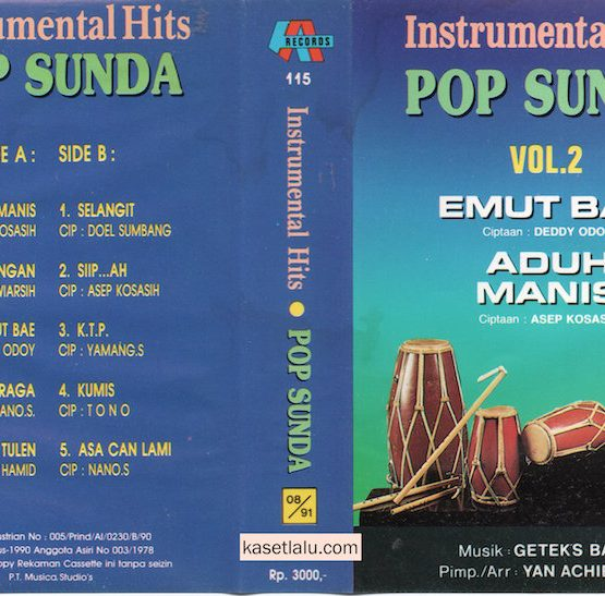INSTRUMENTAL HITS POP SUNDA VOL. 2 (GETEX'S BAND)