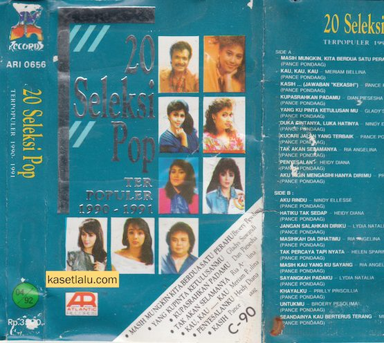 20 SELEKSI POP TERPOPULER 1990 - 1991