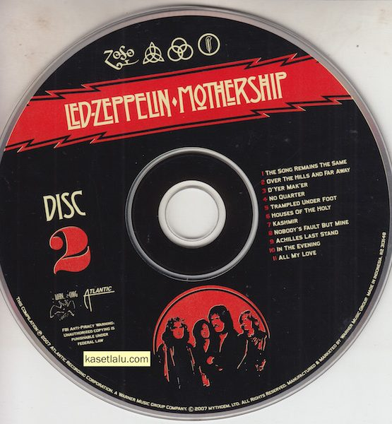 CD - LED ZEPPELIN - MOTHERSHIP (DISC. 2 NO COVER)