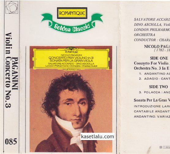 085 - ROMANTIQUE GOLDEN CLASSIC - PAGANINI VIOLIN CONCERTO NO. 3