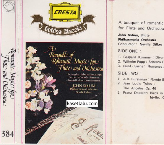 384 - CRESTA GOLDEN CLASSIC 384 - ROMANTIC MUSIC FOR FLUTE AND ORCHESTRA