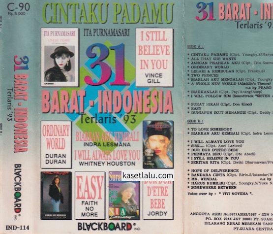 31 BARAT - INDONESIA TERLARIS '93