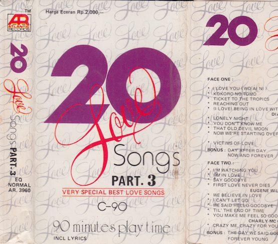 AR 3960 - 20 LOVE SONGS PART. 3 (ATLANTIC RECORDS)