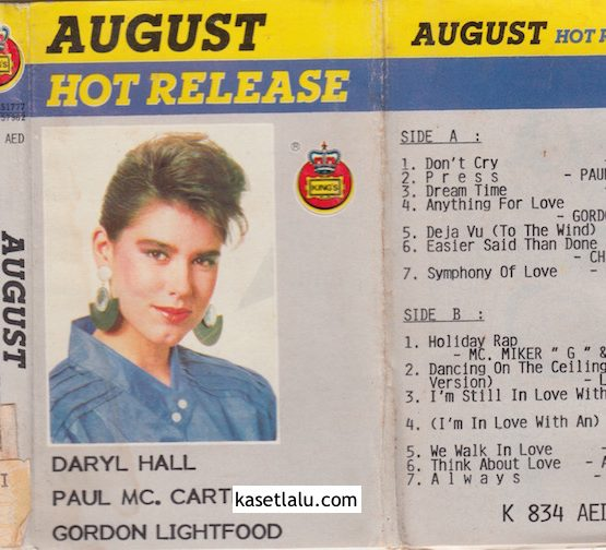 AUGUST HOT RELEASE (DARYL HALL, PAUL MC CARTNEY)