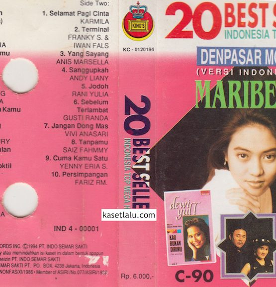 20 BEST SELLER INDONESIA TOP MEGA HITS - VOLUME 1