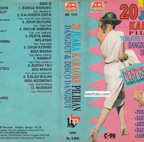 20 JUARA KARAOKE PILIHAN TERLARIS TERPOPULER '94 DANGDUT & DISCO DANGDUT