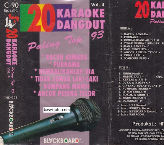 20 KARAOKE DANGDUT PALING TOP '93