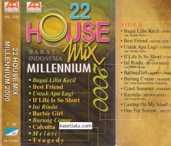 22 HOUSE MIX MILLENIUM 2000 BARAT INDONESIA