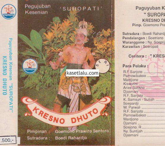 PAGUYUBAN KESENIAN SUROPATI - KRESNO DHUTO (2 KASET)