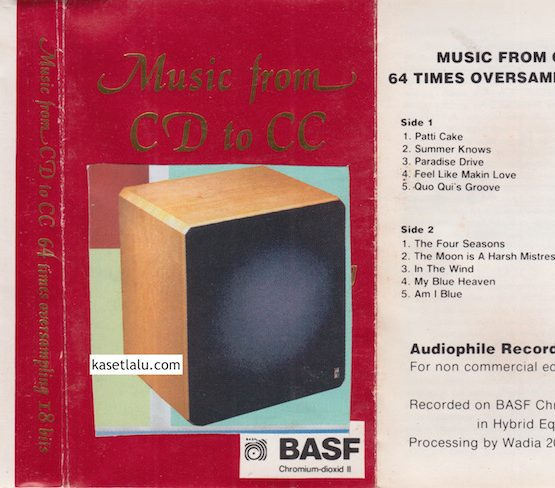 MUSIC FROM CD TO CC - 64 TIMES OVERSAMPLING 18 BITS