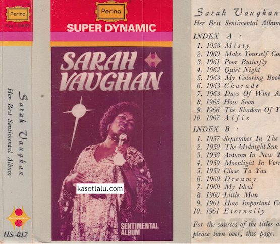 HS 017 - SARAH VAUGHAN - SENTIMENTAL ALBUM