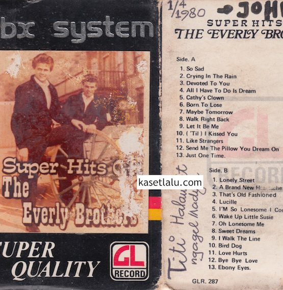 GLR 287 - SUPER HITS OF THE EVERLY BROTHERS