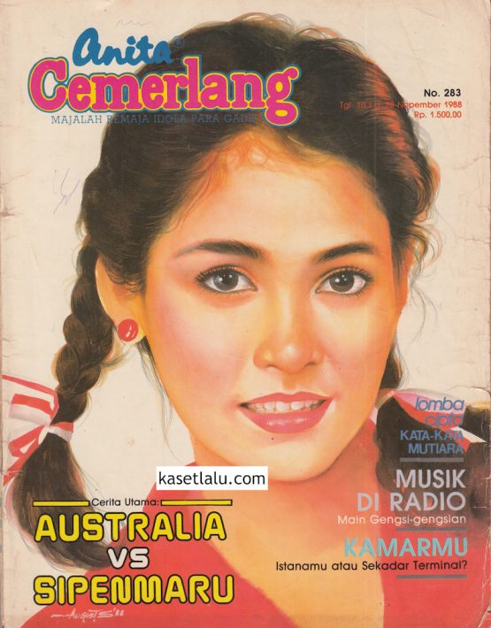 MAJALAH ANITA CEMERLANG - EDISI 283 (10 S:D 20 NOPEMBER 1988) MODEL COVER CHINTIA