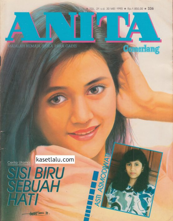 MAJALAH ANITA CEMERLANG - EDISI 336 (21 S:D 30 MEI 1990) MODEL COVER NOVIA KOLOPAKING