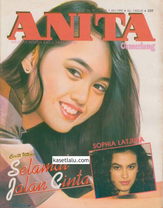 MAJALAH ANITA CEMERLANG - EDISI 339 (21 JUNI S:D 1 JULI 1990) MODEL COVER ELLA