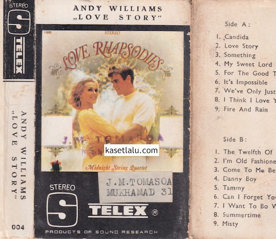 TELEX 004 - ANDY WILLIAMS - LOVE STORY