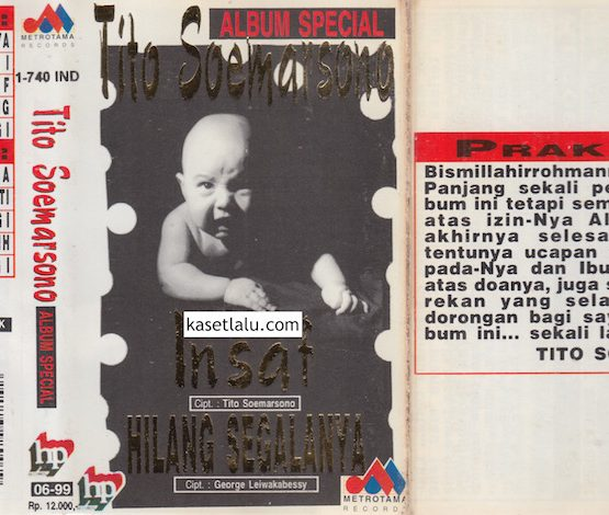 TITO SOEMARSONO - ALBUM SPECIAL - INSAF, HILANG SEGALANYA