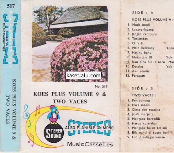 STEREO CASSETTES 517 - KOES PLUS VOLUME 9 & TWO FACES