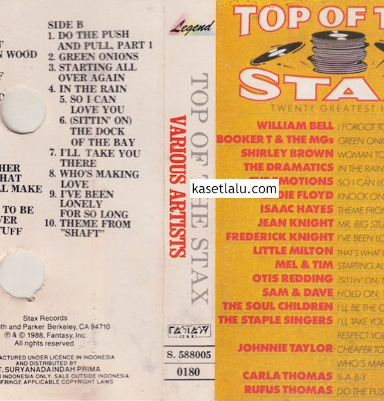 VARIOUS ARTISTS - TOP OF THE STAX