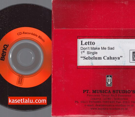 CD PROMO RADIO - MUSICA - LETTO - SEBELUM CAHAYA