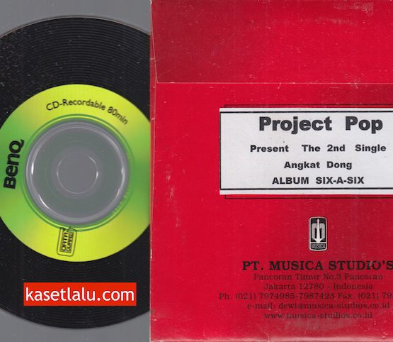 CD PROMO RADIO - MUSICA - PROJECT POP - ANGKAT DONG