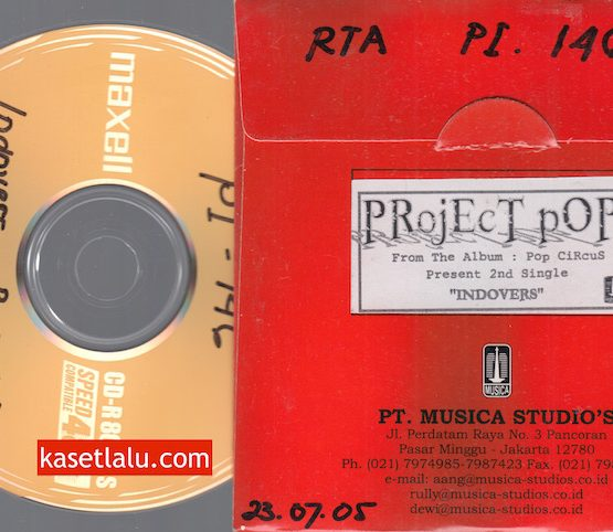 CD PROMO RADIO - MUSICA - PROJECT POP - INDOVERS