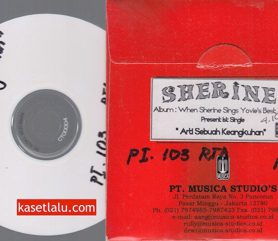 CD PROMO RADIO - MUSICA - SHERINE WHEN SINGS YOVIE'S BEST