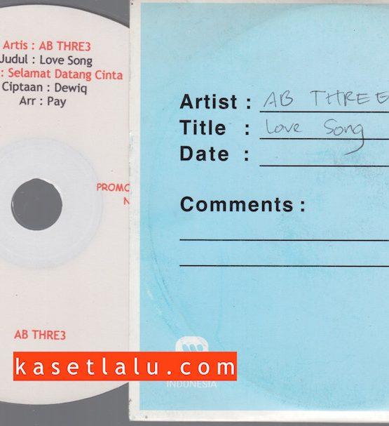 CDPR-00142 - CD PROMO RADIO - WARNER MUSIC INDONESIA - AB THREE - LOVE SONG