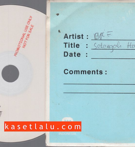 CDPR-00172 - CD PROMO RADIO - WARNER MUSIC INDONESIA - BRE (SETENGAH HATI)