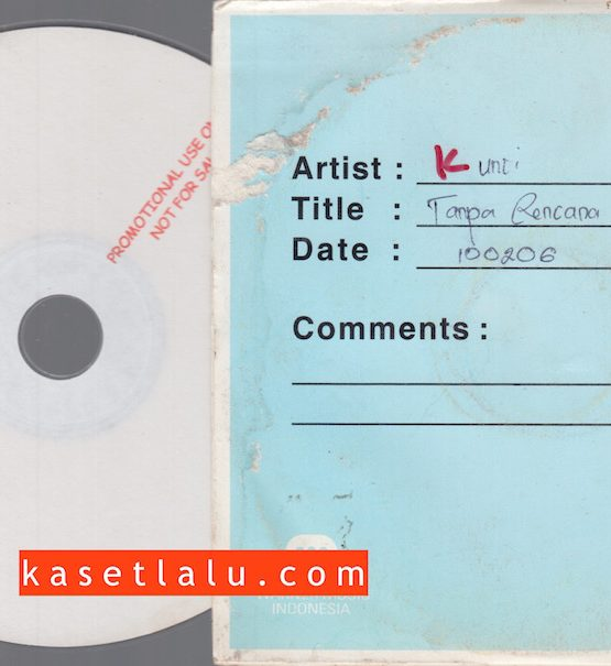 CDPR-00173 - CD PROMO RADIO - WARNER MUSIC INDONESIA - KUNCI (TANPA RENCANA)