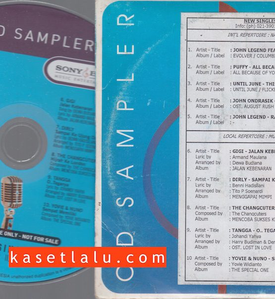 CDPR-00181 - CD PROMO RADIO - SONY BMG - GIGI (JALAN KEBENARAN) DIRLY (SAMPAI KE UJUNG DUNIA) DLL