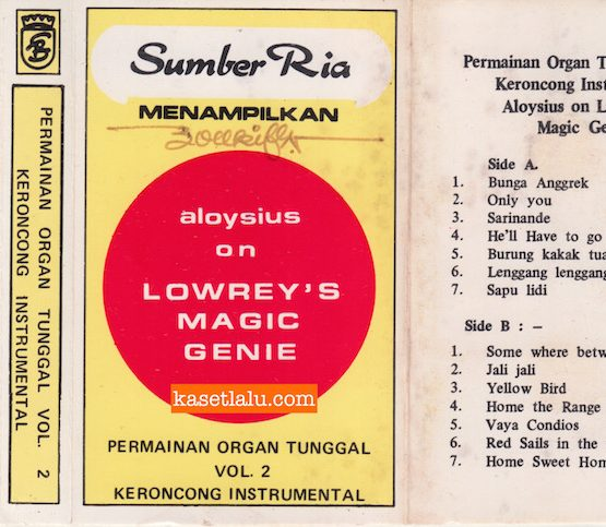 SUMBER RIA MENAMPILKAN ALOYSIUS ON LOWREY'S MAGIC GENIE - PERMAINAN ORGAN TUNGGAL VOL. 2 KERONCONG INSTRUMENTAL