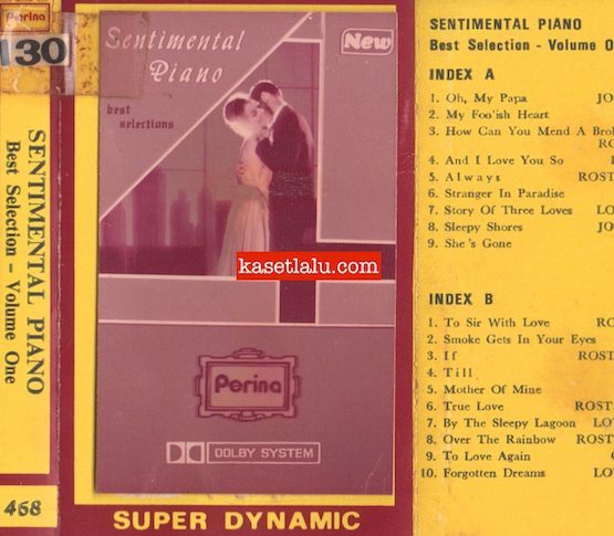PERINA 468 - SENTIMENTAL PIANO BEST SELECTION VOLUME ONE