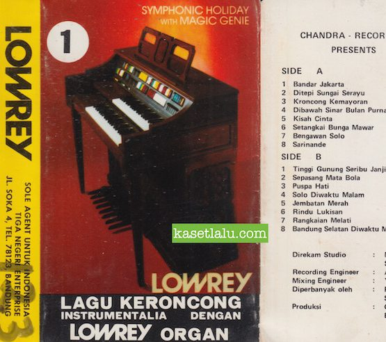 CANDRA RECORDING PRESENTS LOWREY LAGU KERONCONG INSTRUMENTALIA
