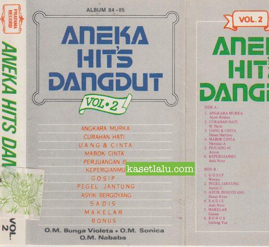 O.M. BUNGA VIOLETA, O.M. SONICA & O.M. NABABA - ANEKA HITS DANGDUT VOL. 2 ALBUM 84-85